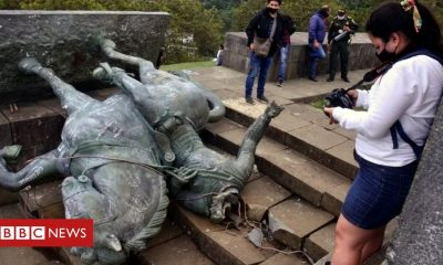 Colombia: Indigenous protesters topple conquistador's statue